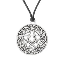 Dawapara Wicca Pentacle Star Moon Turkish Jewelry Pentagram Pendant Power Moon Necklace bijouterie buy direct from china