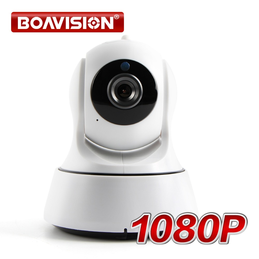 BOAVISION 1080P WIFI IP Camera Wi-FI Pan Tilt Night Vision Two Way Audio HD 2MP Wireless CCTV Surveillance Camera P2P APP View<br>