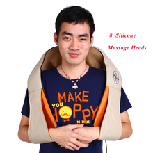 Car Home Shiatsu Massager Electric Cervical Back Neck Shoulder Body Pain Relief 3D Kneading Therapy Shawl Roller Massage Machine(China)