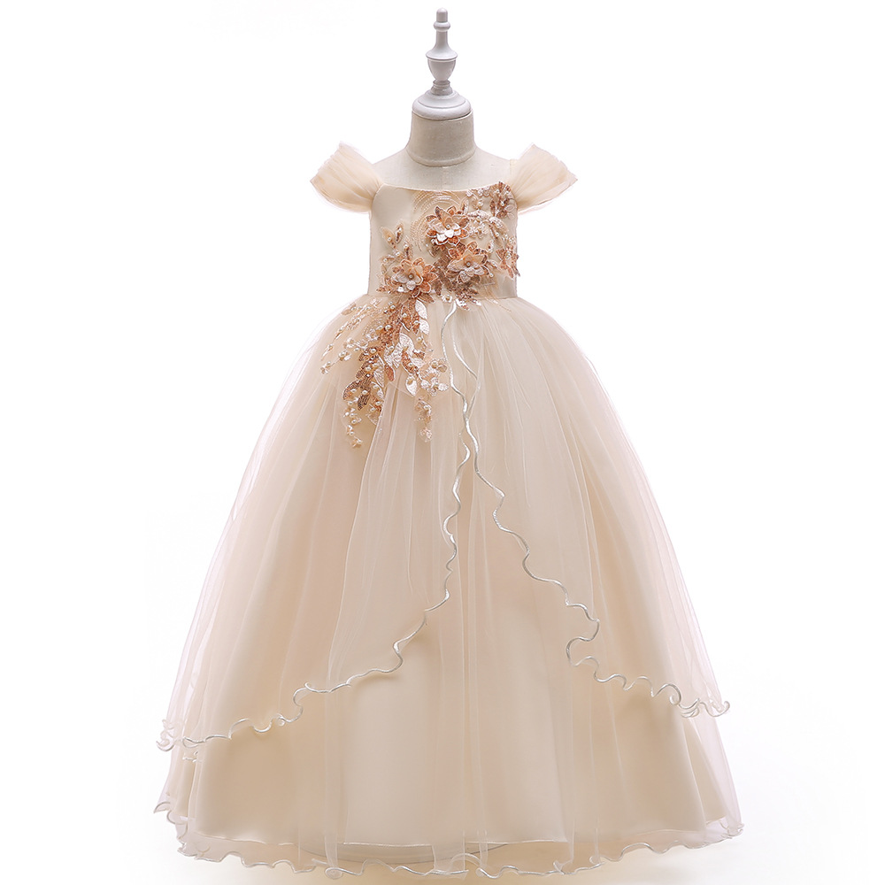 High Quality Cap Sleeves Ballgown First Communion Dresses for Prom Evening Party