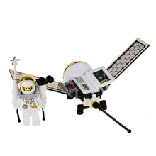 BOHS Small Astronaut Dragonfly Satellite Models & Building Toy Plastic Blocks DIY Kids(China)