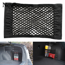 Newbee Car Styling 40*25cm Rear Trunk Back Seat Elastic String Net Mesh Storage Bag Pocket Cage Tape Luggage Holder Car Trunk