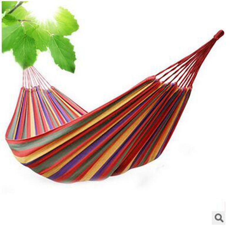 High Quality Portable Outdoor Garden Hammock Hang BED Travel Camping Swing Canvas Stripe<br><br>Aliexpress