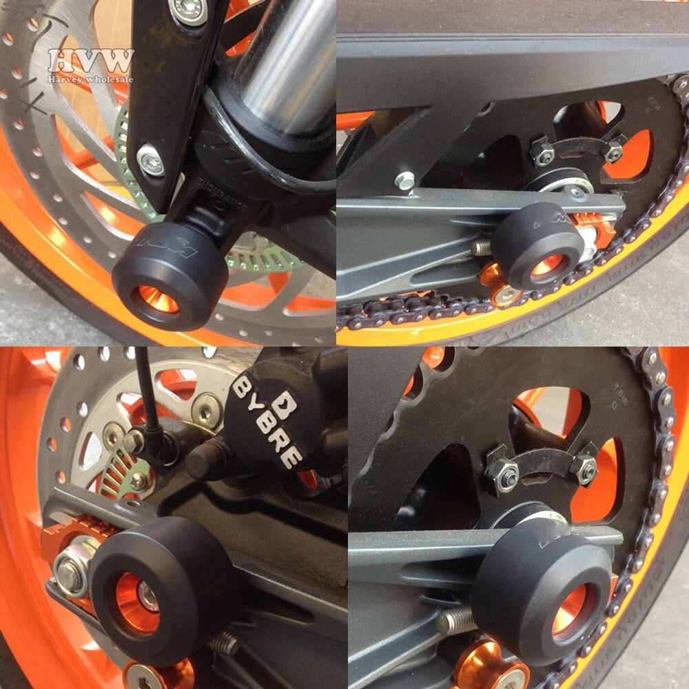 Motorcycle 4pcs Front/Rear Fork Wheel Frame Slider Crash Pads Protector For KTM DUKE125 /200 DUKE390 DUKE 125 DUKE 200 DUKE 390<br><br>Aliexpress