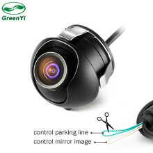 Mini CCD Night Vision 360 Degree Car Rear View Camera Front Side View Backup Camera With Mirror Image Control Cable