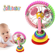 New Baby 3 colors rotation wheel cart chair sucker Genuine Ferriswheel rotating childrens belt Sucker bell Creative funny