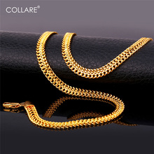 Collare Cuban Mesh Link Chain For Men Rose Gold/Gold/Silver Color Chain Necklace Wholesale Men Jewelry N133