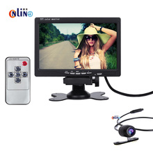 170 degree Car Rear View Camera with Monitor /Color Night for Vision Car Rear view camera+7Inch LCD rear view Mirror Moniter Kit(China)