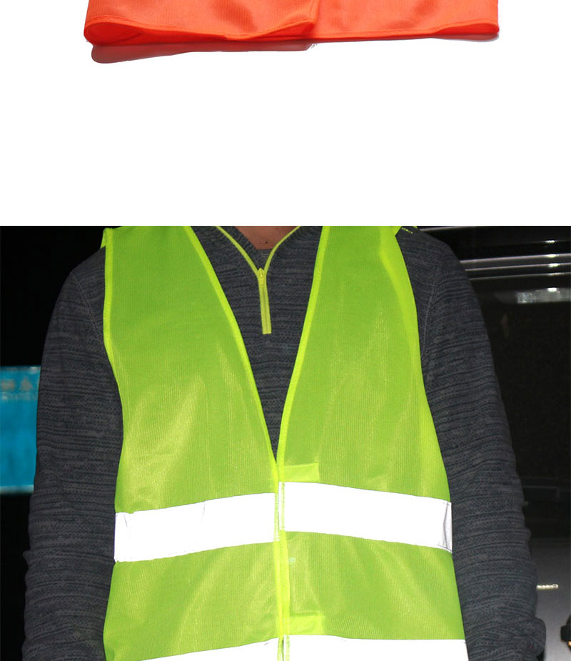 1pcs Car Motorcycle Reflective Vest Auto Safety Clothing High Visibility Traffic Emergency Warning Coat Reflect Stripes Cloth (5)