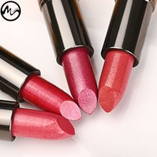 MINCH Glitter Shimmer Lipstick Long Lasting Waterproof Pearl Diamond Shinning Makeup Lip Rouge