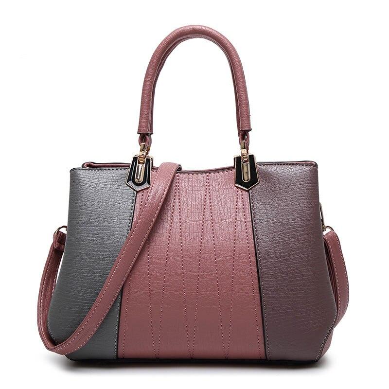 Brand Bags High Quality Women Handbag PU Leather Shoulder Bag Colorful Patchwork Handbag Casual Women Tote Bags Purse 686<br><br>Aliexpress