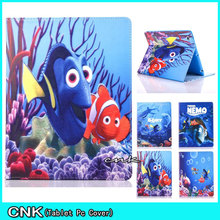 New Cute Cartoon Sea World Case For iPad With Soft TPU Shell Case For Apple iPAD 2 3 4 5 6 Case PU Leather Tablet Pc Cover Case