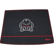 car trunk mats for golf 6 with R /GOLF/ GTI logo carpets after the warehouse special waterproof non-slip rubber