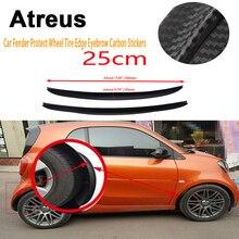 Atreus 25cm BMW e46 e39 e36 Audi a4 b6 a3 a6 c5 Renault duster Lada Car Fender Wheel Tire Edge Eyebrow Carbon Fiber Stickers
