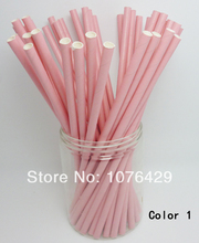 50 Pcs Paper Straws Solid Color Drinking Straws For Wedding Party Birthday Decoration Color 1