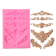 Silicone Flower Lace Cake Mould Tiara Shaped Sugar Craft Fondant Cake Mould Cake Decorating Tools Kitchen Baking Accessories