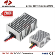 High Quality 40A Step Down DC DC Converter Regulator 24V to 12V 20A 10A Car Power Supply Waterproof(China)