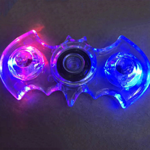 Transparent Spiner LED Light Batman Glowing Hand Spinner Fidget Crystal Plastic EDC Switch For Autism Decompression Toy Gifts #E(China)