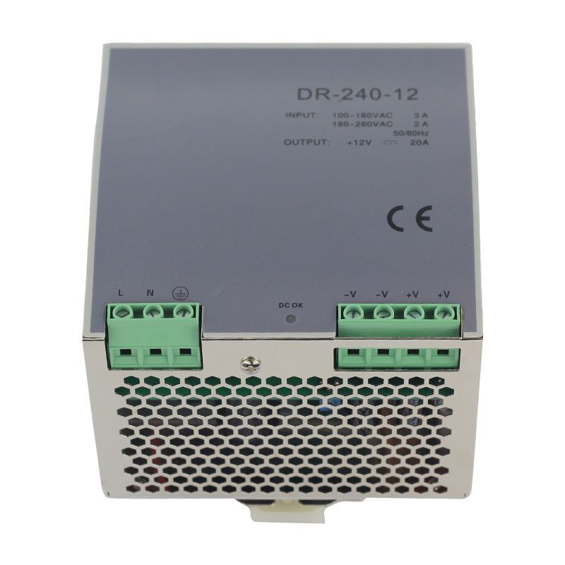 POWER SUPPLY DIN RAIL DR-240-12 240W 12V 20A Switching Power Supply<br>