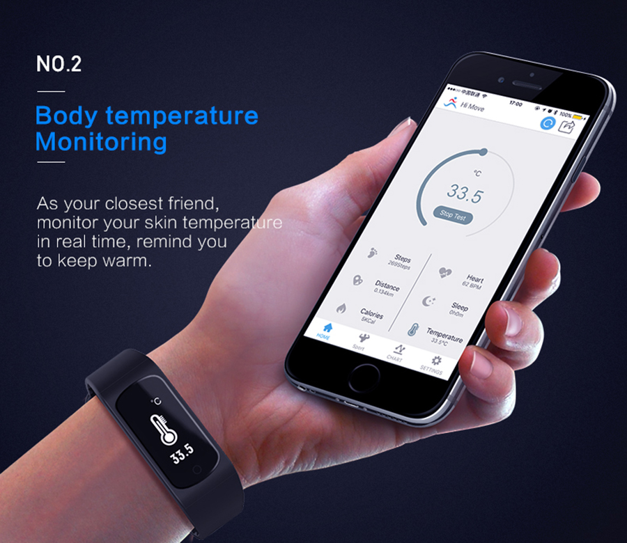 LAOKE Smart Band Heart Rate Monitor Sleep Monitor Fitness Tracker IP67 Waterproof Sport Pedometer Smart Wrist band Bracelet