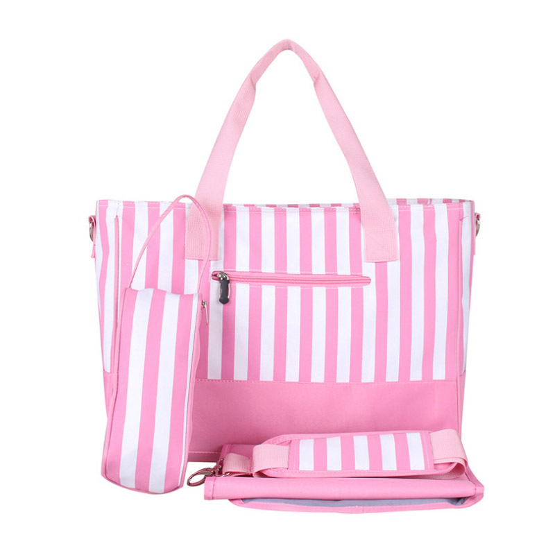 Diaper Bag Mummy Backpack Nappy Bag Large Capacity Stroller Bags Black And White Stripes Nursing Bag For Baby Care (3)