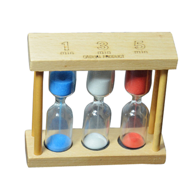 1/3/5 Minutes Wood Frame Sand Glass Hourglass Sand Timer Clock Sandglass for Home Table Tea Decoration Toys Xmas Birthday Gift(China (Mainland))