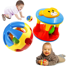2Pcs Baby Toys Fun Little Loud Jingle Ball Develop Intelligence Train Grasping Ability Educational Toy For Baby 6M-1Year(China)