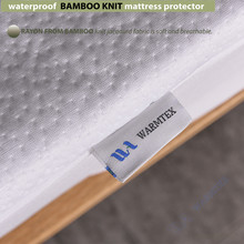 full size 1.35m bed waterproof Bamboo Knit Jacquard mattress Protector Jacquard cloth mattress cover 100% Waterproof W014