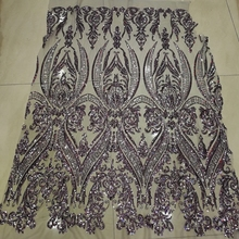 Hojilou African Swiss Voile Lace High Quality French Design Glitter Lace Fabric Direct Selling Gray Sequin Fabric