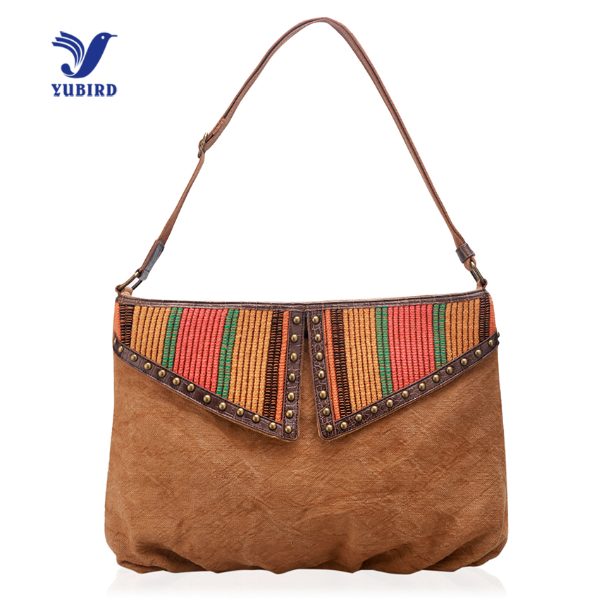 YUBIRD Women Messenger Bags Canvas Casual Womens Shoulder Bag Large Capacity Messenger Rivet Satchel Bag sac besace femme<br>