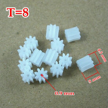 RC Model Small Motor Gear Pinion (M=0.5 T=8 D=4.5 H=5 d=0.9) (10 pieces/bag)