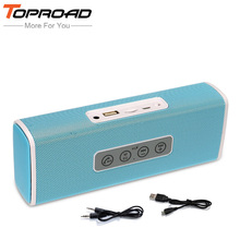 TOPROAD X1 Portable enceinte Bluetooth Speaker Stereo Bass Soundbar Boombox Speakers TF FM Radio Handsfree for Mobile Phones PC