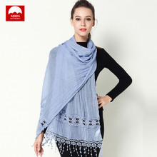 Spring Autumn Women Scarves Chiffon Echarpe Femme Imitated Fabric Female Shawl Sunscreen Pashmina Bufandas Wraps Hijab Wrap(China)