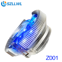 Speed temperature control mute copper CPU cooling fans desktop PC computer fan cooler for AMD/Intel cpu fan 775 1155(China)