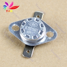 Normal Close NC Temperature Controlled Switch Thermostat 250V 10A KSD301 105 C-15(China)