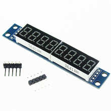 Free Shipping MAX7219 CWG 8-Digit Digital Tube Display Control Module Red Three IO For aeduino