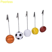 Peerless Football Soccer Ball Shape Metal Memo Paper Clips for Message Decoration Photo Office Supplies Accessories