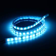 7W Multicolor RGB LED Strip Tail Light Bar Car Auto Truck Daytime Running Lights Brake Stop Light Turn Signal Lamp 120cm DC12V(China)