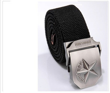 "5-pointed star NEW ADJUSTABLE 43""/110cm INCH CANVAS MILITARY WEB BLACK/ARMY GREEN Metal BELT BUCKLE MEN WOMEN unisex army belt"