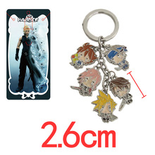 Retail 1pcs Anime Cartoon Final Fantasy Figures Metal Keychains Pendants Key Chains Free Shipping