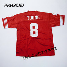 Retro star #8 Steve Young Embroidered Throwback Football Jersey(China)