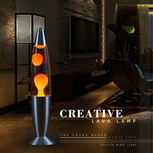 2017 New arrival Metal base Wax lamp volcanic Lava melt night light Creative decoration light Jellyfish light Dazzling Lava lamp