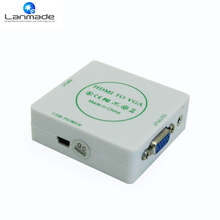 Good quality for media players to change H DMI to VGA converter box(China)