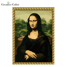 Mona lisa DIY Frameless Pictures Painting By Numbers On Wall Acrylic Painting Unique Gift Digital Canvas Oil Painting(China)