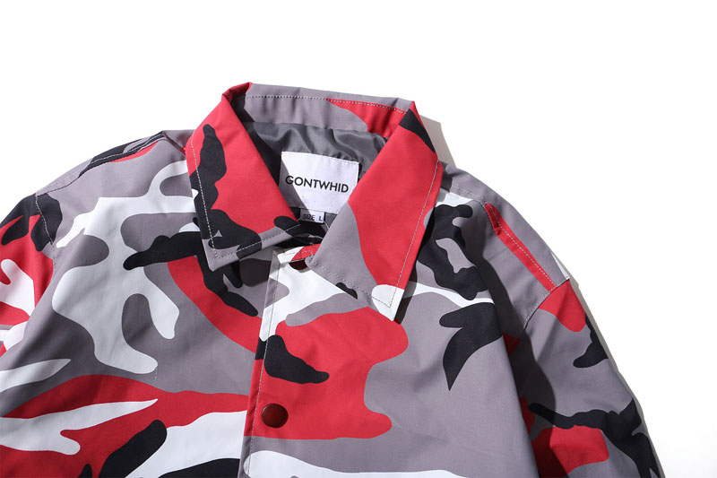 Color Camo Windbreaker Coaches Jackets 10