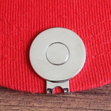 Magnetic Silver Color Blank Golf Hat Clips or Visor Cap Clips, Dia 25.4mm fits Any Metal Golf Ball Markers