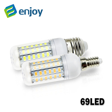 Led Lamp E14 E27 5730 220V 5W 7W 12W 15W 18W 20W 25W LED Lights Corn Led Bulb Christmas Chandelier Candle Lighting(China)