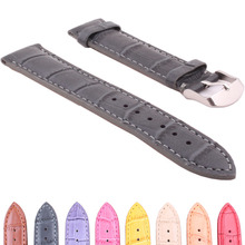 Buy 2 Get 20% OFF) Brown Grey 20mm Genuine Real Leather watchband Watch Strap Wristwatch Bands Buckle belt Wholesale 20 mm