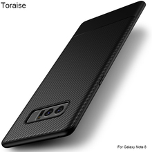 Toraise For Galaxy Note 8 Case,Luxury Carbon Fiber Ultra Thin Silicone Soft TPU Case for Samsung Galaxy Note 8 Note8 Phone capa(China)
