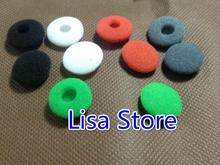 FreeShip 100 Pairs (5 Colors) 18MM Thicker Soft Sponge Foam Noise Isolating Ear Pad Earbud Earbuds Cover Case For iPhone Sony(China)